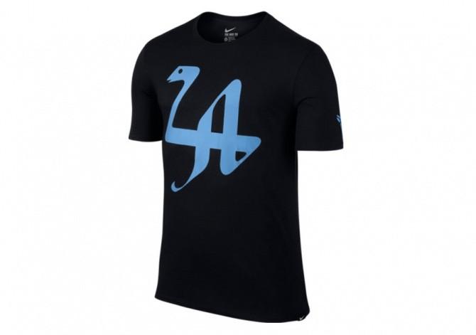 NIKE KOBE LA 24 TEE BLACK/UNIVERSITY BLUE