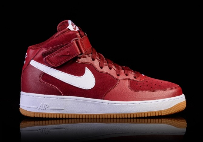 Nike Air Force 1 Hi Suede Team Red Team Red