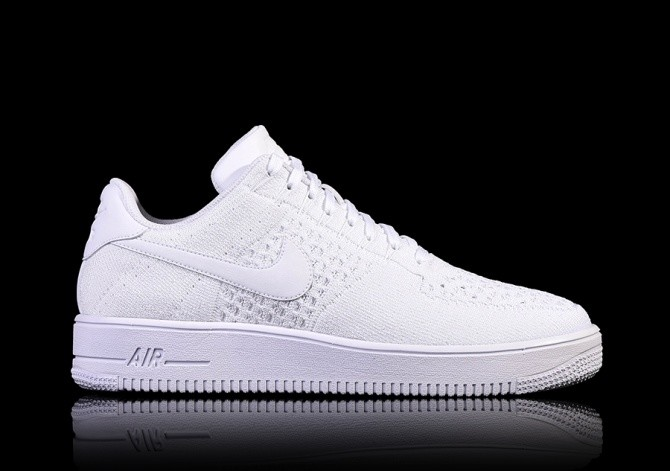 nike air force 1 flyknit low heren white