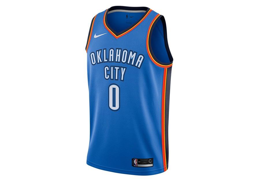 online retailer 1a0dd 8e2ed NIKE NBA OKLAHOMA CITY THUNDER ROAD SIGNAL BLUE