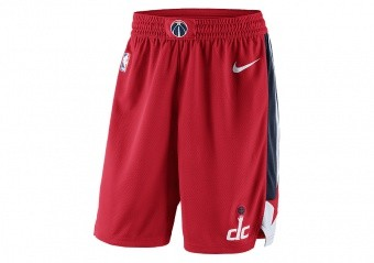 NIKE NBA WASHINGTON WIZARDS SWINGMAN SHORTS ROAD UNIVERSITY RED
