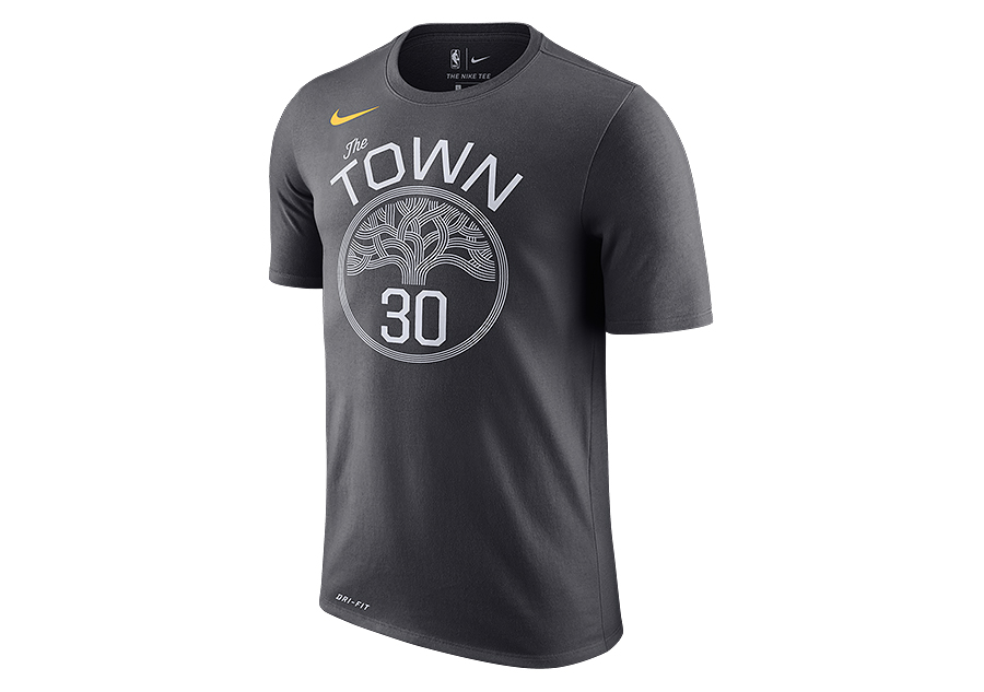 f479c8c691c NIKE NBA GOLDEN STATE WARRIORS STEPHEN CURRY DRY TEE ANTHRACITE voor ...
