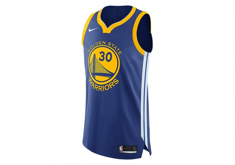 813016f36 NIKE NBA GOLDEN STATE WARRIORS STEPHEN CURRY AUTHENTIC JERSEY ROAD RUSH BLUE