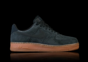 nike dames air force 1 suede donkergroen