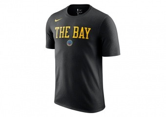 NIKE NBA GOLDEN STATE WARRIORS CITY EDITION DRY TEE BLACK