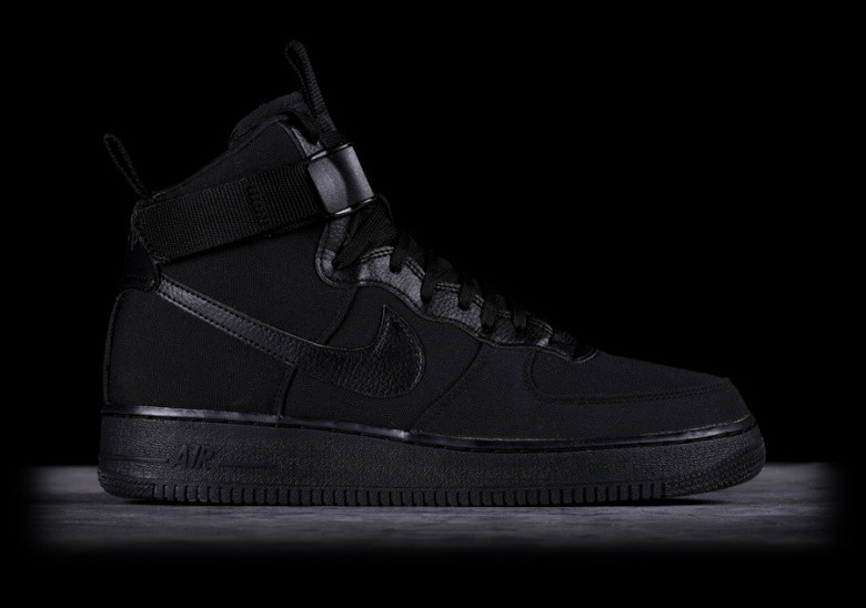 0ae7948118fd NIKE AIR FORCE 1 HIGH  07 CANVAS BLACK price €102.50