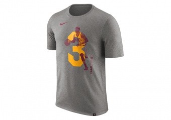 NIKE NBA ISAIAH THOMAS CLEVELAND CAVALIERS DRY TEE DARK GREY HEATHER