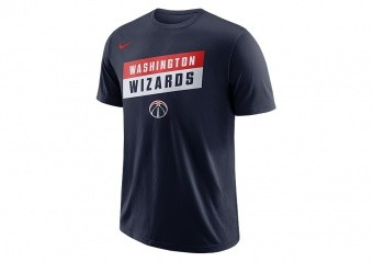 NIKE NBA WASHINGTON WIZARDS DRY TEE COLLEGE NAVY