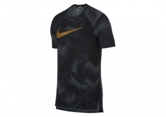 NIKE BREATHE ELITE PRINT TOP ANTHRACITE