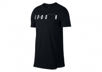 NIKE AIR JORDAN SPORTSWEAR ALT-HEM POCKET TEE BLACK