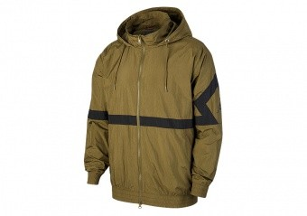 NIKE AIR JORDAN SPORTSWEAR DIAMOND TRACK JACKET OLIVE CANVAS