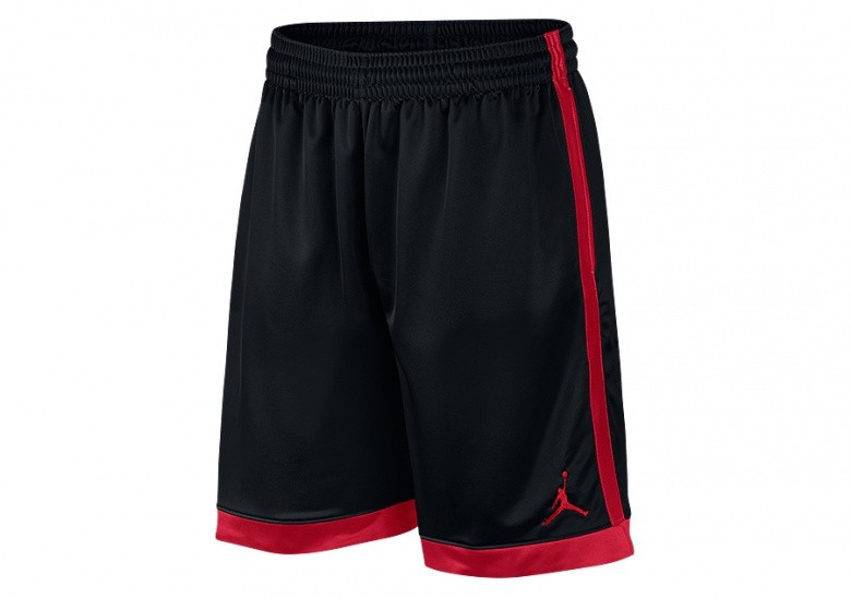 NIKE AIR JORDAN FRANCHISE SHIMMER SHORTS BLACK GYM RED