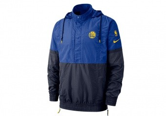 NIKE NBA GOLDEN STATE WARRIORS COURTSIDE JACKET COURTSIDE RUSH BLUE