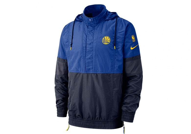 9db447569e616 NIKE NBA GOLDEN STATE WARRIORS COURTSIDE JACKET COURTSIDE RUSH BLUE ...