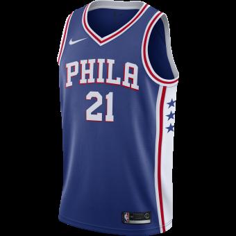 NIKE NBA PHILADELPHIA 76ERS JOEL EMBIID ROAD SWINGMAN JERSEY