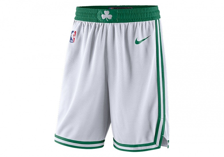 NIKE NBA BOSTON CELTICS SWINGMAN HOME SHORTS WHITE