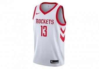 NIKE NBA HOUSTON ROCKETS JAMES HARDEN SWINGMAN HOME JERSEY WHITE