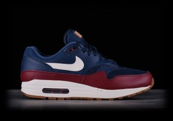 NIKE AIR MAX 1 NAVY TEAM RED