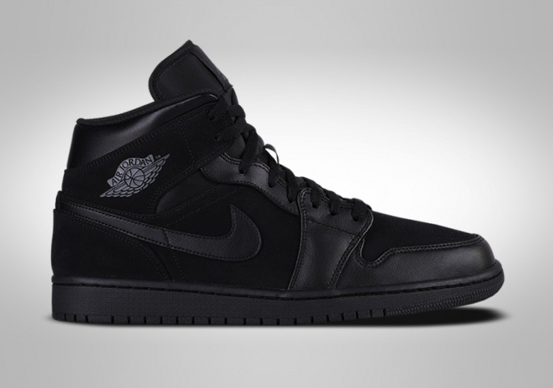 NIKE AIR JORDAN 1 RETRO MID BG TRIPLE BLACK