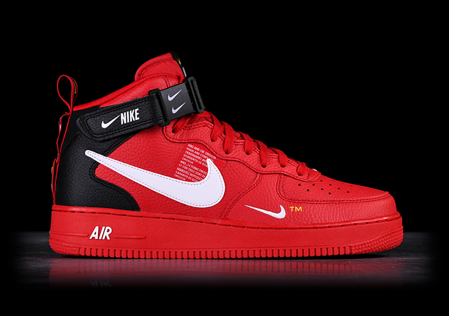73c40caee7b NIKE AIR FORCE 1 MID '07 LV8 UTILITY RED voor €127,50 | Basketzone.net