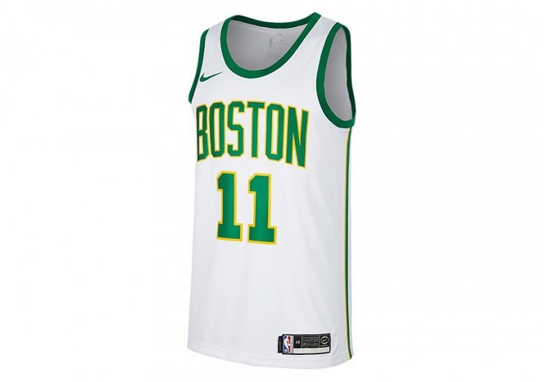 NIKE NBA BOSTON CELTICS KYRIE IRVING SWINGMAN JERSEY WHITE