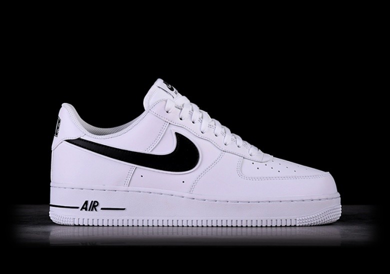 NIKE AIR FORCE 1 '07 WHITE BLACK SWOOSH