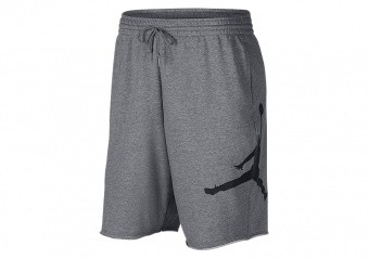 NIKE AIR JORDAN SPORSWEAR JUMPMAN FLEECE SHORTS CARBON HEATHER