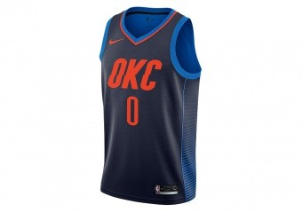 NIKE NBA OKLAHOMA CITY THUNDER RUSSEL WESTBROOK SWINGMAN JERSEY COLLEGE NAVY