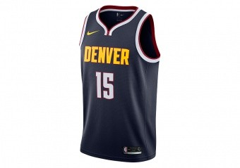 d643f8f7 NIKE NBA DENVER NUGGETS NIKOLA JOKIĆ SWINGMAN ROAD JERSEY COLLEGE NAVY