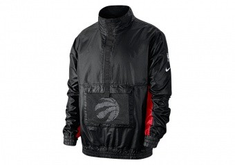 NIKE NBA TORONTO RAPTORS LIGHTWEIGT COURTSIDE JACKET BLACK