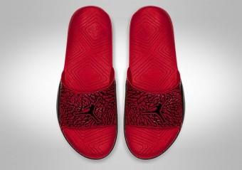 NIKE AIR JORDAN HYDRO 7 V2 BLACK GYM RED
