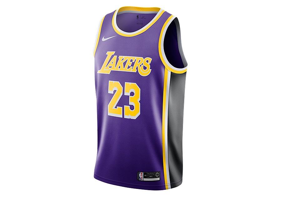 NIKE NBA LOS ANGELES LAKERS LEBRON JAMES SWINGMAN JERSEY FIELD ...