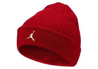 NIKE AIR JORDAN INGOT CUFFED BEANIE GYM RED