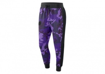 NIKE NBA LOS ANGELES LAKERS COURTSIDE PANTS FIELD PURPLE