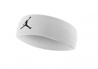 NIKE AIR JORDAN JUMPMAN HEADBAND WHITE