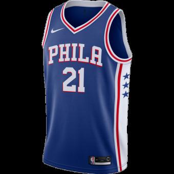 NIKE NBA PHILADELPHIA 76ERS JOEL EMBIID SWINGMAN ROAD JERSEY