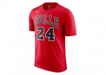 NIKE NBA CHICAGO BULLS LAURI MARKKANEN Dri-FIT TEE UNIVERSITY RED