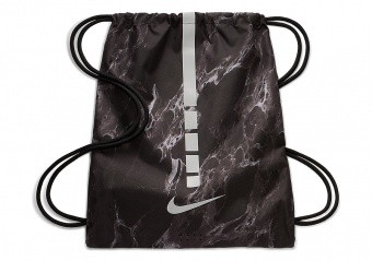 NIKE HOOPS ELITE BASKETBALL GYMSACK 2.0 BLACK MARBLE