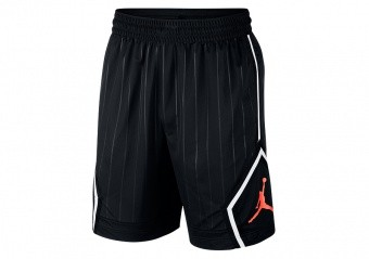 NIKE AIR JORDAN JUMPMAN DIAMOND STRIPED SHORTS BLACK INFRARED