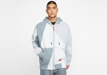 NIKE KYRIE BASKETBALL FULL-ZIP HOODIE WHITE