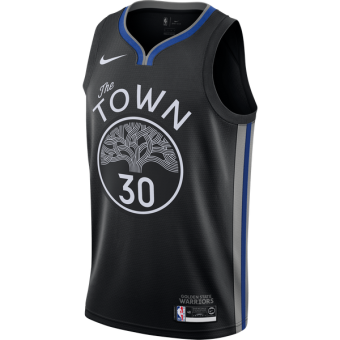 NIKE NBA GOLDEN STATE WARRIORS STEPHEN CURRY CITY EDITION SWINGMAN JERSEY