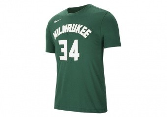 NIKE NBA MILWAUKEE BUCKS GIANNIS ANTETOKOUNMPO DRI-FIT TEE FIR