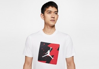 NIKE AIR JORDAN POOLSIDE CREW TEE WHITE