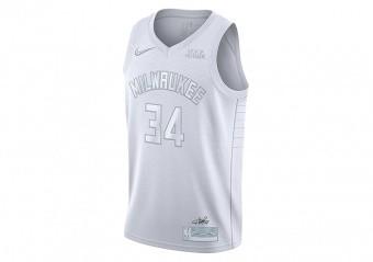 NIKE NBA GIANNIS ANTETOKOUNMPO MVP JERSEY WHITE