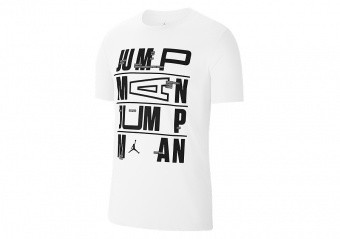 NIKE AIR JORDAN JUMPMAN DRI-FIT TEE WHITE