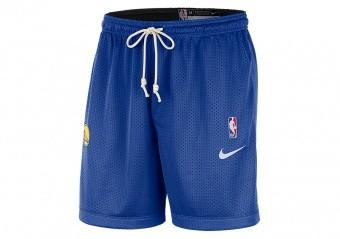 NIKE NBA GOLDEN STATE WARRIORS STANDARD ISSUE REVERSIBLE SHORTS RUSH BLUE