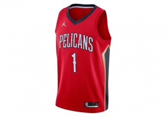 NIKE NBA NEW ORLEANS PELICANS ZION WILLIAMSON STATEMENT EDITION SWINGMAN JERSEY UNIVERSITY RED