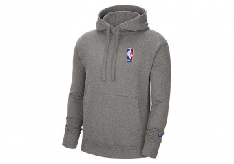 NIKE NBA TEAM 31 ESSENTIAL FLEECE PULLOVER HOODIE DARK GREY HEATHER