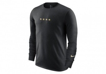NIKE NBA CHICAGO BULLS COURTSIDE CITY EDITION LONG-SLEEVE TEE BLACK