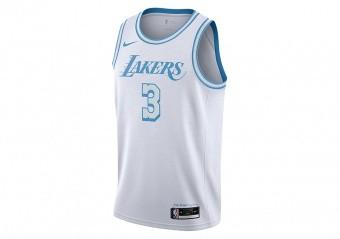NIKE NBA LOS ANGELES LAKERS ANTHONY DAVIS CITY EDITION SWINGMAN JERSEY WHITE